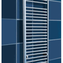 Towel Warmer outlet - Contemporary wall-mounted towel warmers are in hydronic models available with heat output up to 3294 Btu/hour. These elegant and large towel warmers are the perfect solution for heating a room and warming towels. They are manufactured of the highest quality materials. All models are warranted for five years.