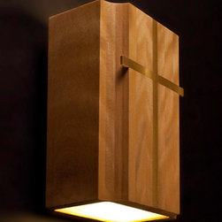 Brass Cross Inlay Sconce - |Features|