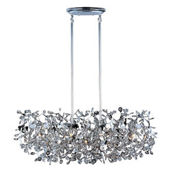 Maxim Lighting - Maxim Lighting Comet Modern / Contemporary Pendant Light X-CPCB60242 - Boldy go somewhere with the brilliant sophistication of this contemporary wall pendant. This fixture's Polished Chrome and thousands of Beveled Glass Crystals creates countless reflective surfaces that delicately and boldly illuminate with its xenon light source, so it looks outstanding in your living room, kitchen, den, dining room, or bedroom. The beveled crystal provides clarity and clean bright light that is sure to please.
