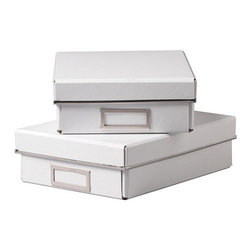 IKEA of Sweden - KASSETT Box with lid for paper - Box with lid for paper, white