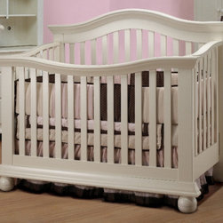 "Sorelle - Vista Couture Crib Set - Features: -Vista collection. -Made of fine wood. -Light, bright, sturdy, safe and beautiful. -Great match with the Vista collection furniture. -Can simply mix and match pieces to suit your needs and nursery size. -Will convert to a daybed, toddler bed and adult bed. -Toddler rail and full size bed rail are additional accessories to the crib. Dimensions: -50.5"" H x 32.35"" W x 61.55"" D, 90 lbs."
