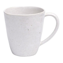 Casafina - Coffee Mug, Solid Speckled White - Organic shaped handmade Portuguese stoneware. Durable enough to be used everyday and beautiful enough to be used on special occasions.