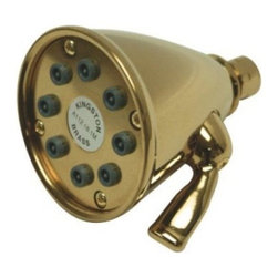 """Kingston Brass - Polished Brass 3-5/8"""" Diameter Adjustable Brass Shower Head with 8 Jets CK139A2 - With 8 adjustable jets in a 3 5/8"""" diameter, this showerhead will give you the flexibility to adjust to your specific setting. Installs easily to any 1/2"""" shower arm. Made from solid brass to give you many years of trouble-free performance.Manufacturer: Kingston BrassModel: CK139A2UPC: 663370139178Product Name: Victorian 3-5/8"""" Diameter Adjustable Brass Shower Head with 8 Jets, Polished BrassCollection / Series: VictorianFinish: Polished BrassTheme: ClassicMaterial: BrassType: Shower Hardware & AccessoryFeatures: 8 Nozzle Power Jet"""