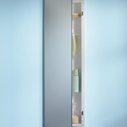Broan-NuTone - Broan-Nutone Pillar 12W x 36H in. Recessed Medicine Cabinet 735M34WH - 735M34WH - Shop for Bathroom Cabinets from Hayneedle.com! Think you don't have room for a sharp stylish recessed medicine cabinet? You do now! This ultra-thin Broan-Nutone Pillar Recessed Medicine Cabinet - 12W x 36H in. allows you to install a super cabinet in the narrowest of spaces. The reversible hinges mean this model could open either way giving you a great-looking glass medicine cabinet even in what you previously thought was a tough spot to fill. Its Polystyrene plastic body is perfect for all the water in the air in most bath or powder rooms.About Broan-NuToneBroan-NuTone has been leading the industry since 1932 in producing innovative ventilation products and built-in convenience products all backed by superior customer service. Today they're headquartered in Hartford Wisconsin employing more than 3200 people in eight countries. They've become North America's largest producer of medicine cabinets ironing centers door chimes and they're the industry leader for range hoods bath and ventilation fans and heater/fan/light combination units. They are proud that more than 80 percent of their products sold in the United States are designed and manufactured in the U.S. with U.S. and imported parts. Broan-NuTone is dedicated to providing revolutionary products to improve the indoor environment of your home in ways that also help preserve the outdoor environment.