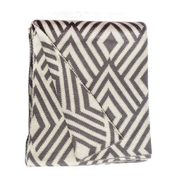 Fab Habitat - Fab Habitat Throws - Nakano-Charcoal & Natural - Fab Habitat features knitted cotton throws in vivid colors and patterns. From our renowned Metro collection, these throws are certain to keep you warm from the cold of winter and add a perfect accent to your sofa or bed.