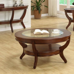 Homelegance - Avalon 3-Piece Occasional Table Set - This clean-lined transitional occasional group takes its roots from the art deco era of the 1930's. The Avalon collection is both straight forward and dramatic. Excitement comes from its simple yet elegant design.