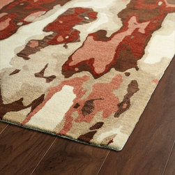 BRS05-30 - The artistic inspirations of the Brushstrokes collection finally brings you a true piece of art for your floor! Beautiful hand-painted designs accentuated from a smooth and steady motion, this assortment features a unique spotlight of fantastic color combinations. Each rug is perfectly executed and detailed in this 100% wool, hand-tufted rug made in India.