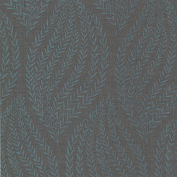 "Kenneth James - Calix Sienna Leaf Wallpaper - This wallpaper is unpasted non-woven material and is 20.5"" x 33' with a straight match and a 25.2"" repeat. Made in the United Kingdom. Roll Coverage: 56.38 square feet."