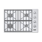 "Viking Professional 30"" Gas Cooktop, White Natural Gas 
