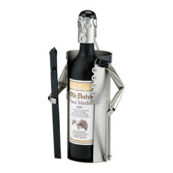 Old Dutch - Down Hill Skier Wine Bottle Buddy Holds 750ml Bottle - This down hill skier wine buddy will hold your favorite wine and other bottles. Also can be used as a decorative item for those who like to ski.