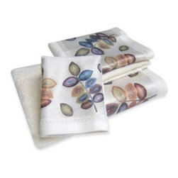 Croscill - Croscill Mosaic Leaves Bath Towel - Mosaic Leaves Bath Collection instantly brings charm to your bathroom. It features a thick hem of colorful leaves created in small multi-colored mosaic-like dots that pop beautifully against the beige background.