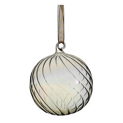 Silk Plants Direct - Silk Plants Direct Glass Swirl Ball Ornament (Pack of 6) - Pack of 6. Silk Plants Direct specializes in manufacturing, design and supply of the most life-like, premium quality artificial plants, trees, flowers, arrangements, topiaries and containers for home, office and commercial use. Our Glass Swirl Ball Ornament includes the following: