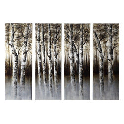 Coaster - Wall Art - Through the Woods, 4 Piece Set - Through the Woods