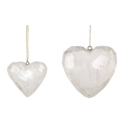 Quartz Heart Ornament - I love the delicate and soft elements in these quartz heart ornaments. They're available in two sizes.