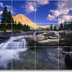 Picture-Tiles, LLC - Waterfalls Picture Mural Tile W014 - * MURAL SIZE: 24x32 inch tile mural using (12) 8x8 ceramic tiles-satin finish.