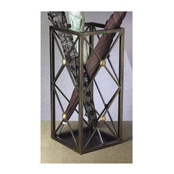 """Dessau Home - Umbrella Stand in Bronze - Made from iron and brass. Made in India. 20 in. HValue has always been an essential ingredient at Dessau Home. """"Essentials"""" represents a collection of well-appointed yet affordable home furnishings with a unique traditional styling that appeals to most transitional and contemporary home decorating needs."""