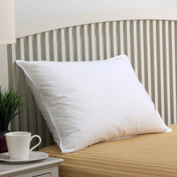TRUMP Home - TRUMP Home Quilted White Down and Feather Blend Pillow - Down and feathers come together to form this comfortable side sleeper pillow,designed with corded edges and a quilted diamond fabric shell. Fully machine washable,this white pillow offers a 230 thread count design.