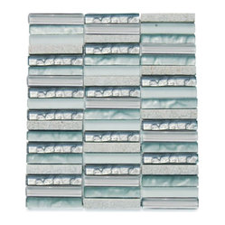 Alloy Iceland Stacked Glass Tile