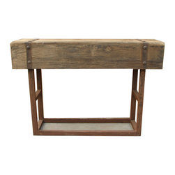 Moe's Home Collection - Moe's Home Orso Bar Table in Natural - Bar height table. Dull finish resulted in retaining the wood's natural character.