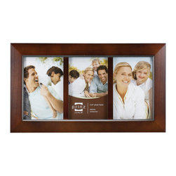 Origin Crafts - Dakota collage 3 picture frame - dark walnut (4x6) - Dakota Collage 3 Picture Frame - Dark Walnut Natural Pine Wood, velvet back, two way easel, wall hangers. Natural wood, expert craftsmanship and unique design are combined to create a beautiful collection of wood frames. All wood is harvested from renewable plantations. Holds three 4-inch by 6-inch photos. Dimensions (in):8.2 x 0.5 x 14.2 inches ; 1.3 pounds By Prinz - Prinz is a leading supplier of picture frames. At Prinz they are committed to offering unsurpassed design, quality, and value. Ships within five business days.
