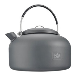 Esbit - Esbit Water Kettle - Made of extremely light, hard anodized aluminum, the Esbit Water Kettle was created so you can have hot water at home or on the go. Its compact, portable size along with a folding handle makes it ideal for use in-home and camping!