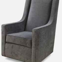 Luxe 2.0 Glider - With it's simple lines and exceptional comfort; our Luxe 2.0 glider is ready to be the anchor of your nursery or living room. This glider features a high back for proper head rest and ergonomic arm height for ultimate comfort. This locally handcrafted piece includes soft durable upholstery, a smooth gliding motion, and a 360 degree swivel- making it the essential nursery chair. When your little one is all grown up, the Luxe also fits beautifully into any other room in your home.