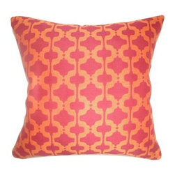 The Pillow Collection Illica Moorish Pillow - Chili Pepper - Moorish influence may be old, but the Moore's certainly never expected the modern appeal of The Pillow Collection Illica Moorish Pillow - Chili Pepper. Made of 100% polyester, this stunning square pillow features a plush 95/5 feather/down insert for ultra softness. The vibrant contrast of colors and an elegant geometric print make this a favorite accessory.About The Pillow CollectionIdentical twin brothers Adam and Kyle started The Pillow Collection with a simple objective. They wanted to create an extensive selection of beautiful and affordable throw pillows. Their father is a renowned interior designer and they developed a deep appreciation of style from him. They hand select all fabrics to find the perfect cottons, linens, damasks, and silks in a variety of colors, patterns, and designs. Standard features include hidden full-length zippers and luxurious high polyester fiber or down blended inserts. At The Pillow Collection, they know that a throw pillow makes a room.