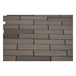 """Athens Gray Big Brick Pattern Marble Mosaic Tiles - sample-WHITE CARRERA3/4X4 GLASS TILES BIG BRICK 1/4 SHEET SAMPLE You are purchasing a 1/4 sheet sample measuring approximately 3 """" x 12 """". Samples are intended for color comparison purposes, not installation purposes.-Glass Tiles -"""
