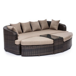 ZUO Modern - Cove Beach Lounge Set in Brown - 703060 - Set includes Lounge Chair, Ottoman and Chair