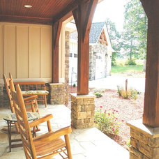 Craftsman Porch by Homestead Timber Frames
