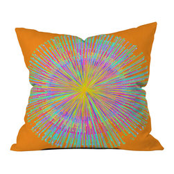 DENY Designs - Randi Antonsen Sun Outdoor Throw Pillow - Do you hear that noise? it's your outdoor area begging for a facelift and what better way to turn up the chic than with our outdoor throw pillow collection? Made from water and mildew proof woven polyester, our indoor/outdoor throw pillow is the perfect way to add some vibrance and character to your boring outdoor furniture while giving the rain a run for its money. Custom printed in the USA for every order.
