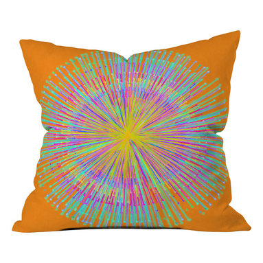 DENY Designs - Randi Antonsen Sun Outdoor Throw Pillow, 16x16x4 - Do you hear that noise? it's your outdoor area begging for a facelift and what better way to turn up the chic than with our outdoor throw pillow collection? Made from water and mildew proof woven polyester, our indoor/outdoor throw pillow is the perfect way to add some vibrance and character to your boring outdoor furniture while giving the rain a run for its money. Custom printed in the USA for every order.
