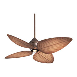 Minka Aire Gauguin Ceiling Fan - This fan combines contemporary style with a nod to tropical leaves, as well as an unobtrusive but functional light.