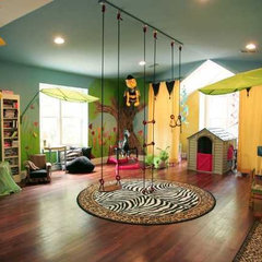 contemporary  Urban Jungle Playroom