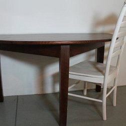Half moon reading table - Made by http://www.ecustomfinishes.com