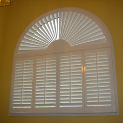 Specialty Shapes - Plantation shutters with covered arch