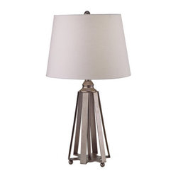 Murray Feiss - Murray Feiss PR192 Pack of 2 Showroom 1 Light Table Lamps with Round Shades - Features: