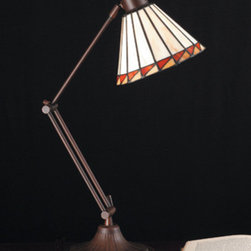 Meyda - 23 Inch Height Prairie Mission Adjustable Table Lamps - Color theme: Beige HA