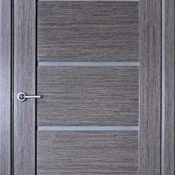 """Modern Interior Doors - """"Venice"""" - grey oak modern veneered interior door. Solid wood construction."""