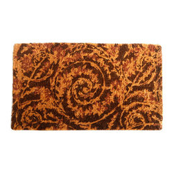"CocoMatsNMore - CocoMatsNMore Twirls Design Coco Doormats - 18"" X 30"" - Eco-friendly Coco Mat are hand-woven and  made from 100% natural coir . These coco doormats are designed to last for a long time and are easy to maintain and clean by either shaking or hosing it down. Designed with fade-resistant dyes they are durable enough to withstand the harshness of weather and look good througout the year. Furthermore, they keep your house clean by doing a fabulous job of trapping the dirt, mud and debris right at the doorstep."