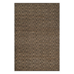 "Loloi Rugs - Loloi Rugs Istanbul Collection - Natural / Charcoal, 3'-6"" x 5'-6"" - The warm, all natural tones of 100% jute of the Istanbul Collection offer raw elegance and an organic feel for any room. Intricately hand woven in India, Istanbul is available in simple geometric patterns."
