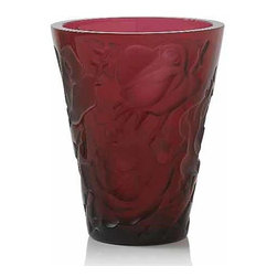 Lalique - Lalique Ispahan Vase Red - Lalique Ispahan Vase Red