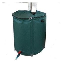 PLANTMATES LLC - 767022 104 Gallon Collapsible Rain Barrel - Collapsible Rain Barrel