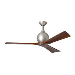Atlas Fan Company - Irene 3-Blade Ceiling Fan by Atlas Fan Company - With 3 solid wood CNC-cut blades, the Atlas Fan Company Irene 3-Blade Outdoor Ceiling Fan brings paddle fans to a whole new level of style. Plus, the Irene runs off of an extremely efficient (and quiet) DC motor. Includes a handheld remote with 6-speeds and reverse control. Atlas Fan Company produces fans that combine superb ventilation solutions with sharp, contemporary design.