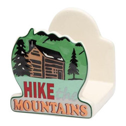 """ATD - 3.25 Inch Road Trip """"Hike Mountains"""" Green and Brown Napkin Holder - This gorgeous 3.25 Inch Road Trip """"Hike Mountains"""" Green and Brown Napkin Holder has the finest details and highest quality you will find anywhere! 3.25 Inch Road Trip """"Hike Mountains"""" Green and Brown Napkin Holder is truly remarkable."""