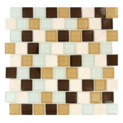 MS International - Desert Mirage 1.25 in. x 1.25 in. Multicolor Mesh-Mounted Mosaic Tile-50 Sheets - The M S International Inc Desert Mirage 1.25 in. x 1.25 in. Multicolor Mesh-Mounted Mosaic Tile is a great way to show off your style. Featuring a smooth, high/low-gloss finish, this tile is frost resistant for indoor and outdoor applications. This beautiful mesh-mounted tile is made of a mixture of glass and natural stone and has a multicolor design with a slight variation in tone to accent many interior decors. This tile is suitable for use on walls and has a P.E.I. Rating of 0 to suit your needs.