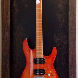 Guitar Display Cases / Shadow Boxes - This unique and original piece was handcrafted on solid wood.
