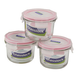 Glasslock 6pc Round Baby Box Set - Includes 3 x 0.7 cup