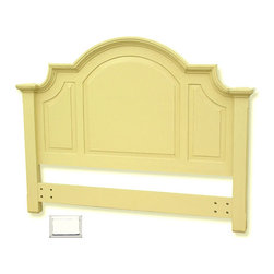 Tradewinds - Arched Cottage Headboard, White Queen - To make your Chesapeake queen panel bed look more elegant than ever add a Arched Full/Queen Headboard to it. This headboard is exquiste in design and aesthetic in appeal. With arch on its side makes you feel no less than a king when sleeping on your bed. Made from plantation grown and kiln-dried mahogany and mindi as well as premium hardwood veneers make it sturdy and durable. Its availabilty in different color options makes makes it much more irrestible. This item is hand-made, hand-painted, and hand-rubbed to create a lightly-distressed look. It easily attaches to any standard bed frame.