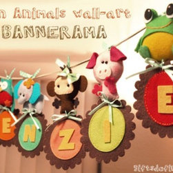 Personalized Fun Animals - Add whimsy and humor to your child's space with these personalized fun animals. Unique and surprising, each one will have you and your children smiling. Who says you have to wait for a special occasion to enjoy a simple banner?